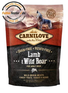 Carnilove Lamb and Wildboar 1,5kg